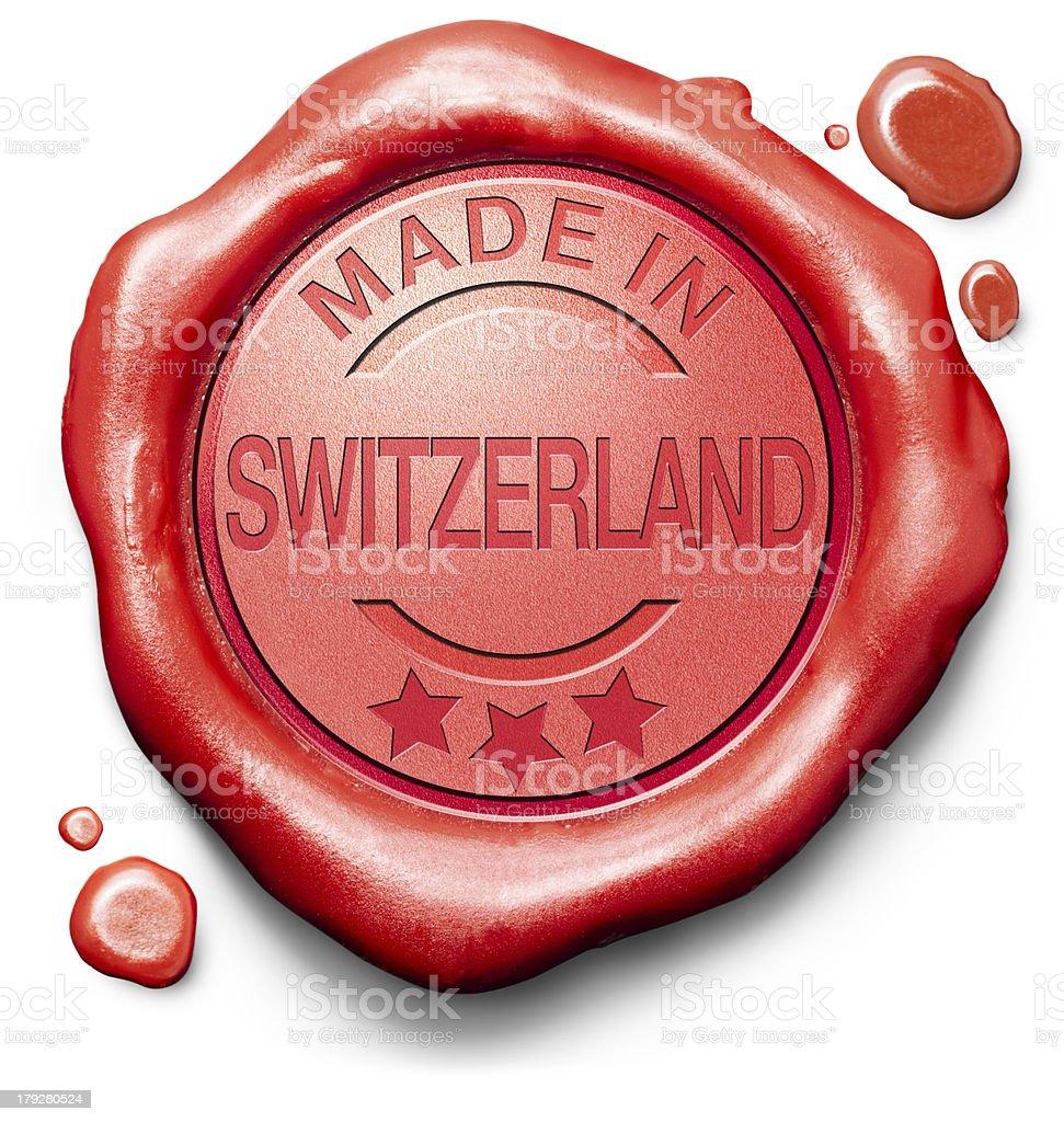 made in Switzerland stock photo