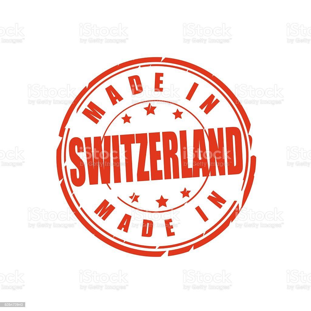 Made in Switzerland stamp stock photo
