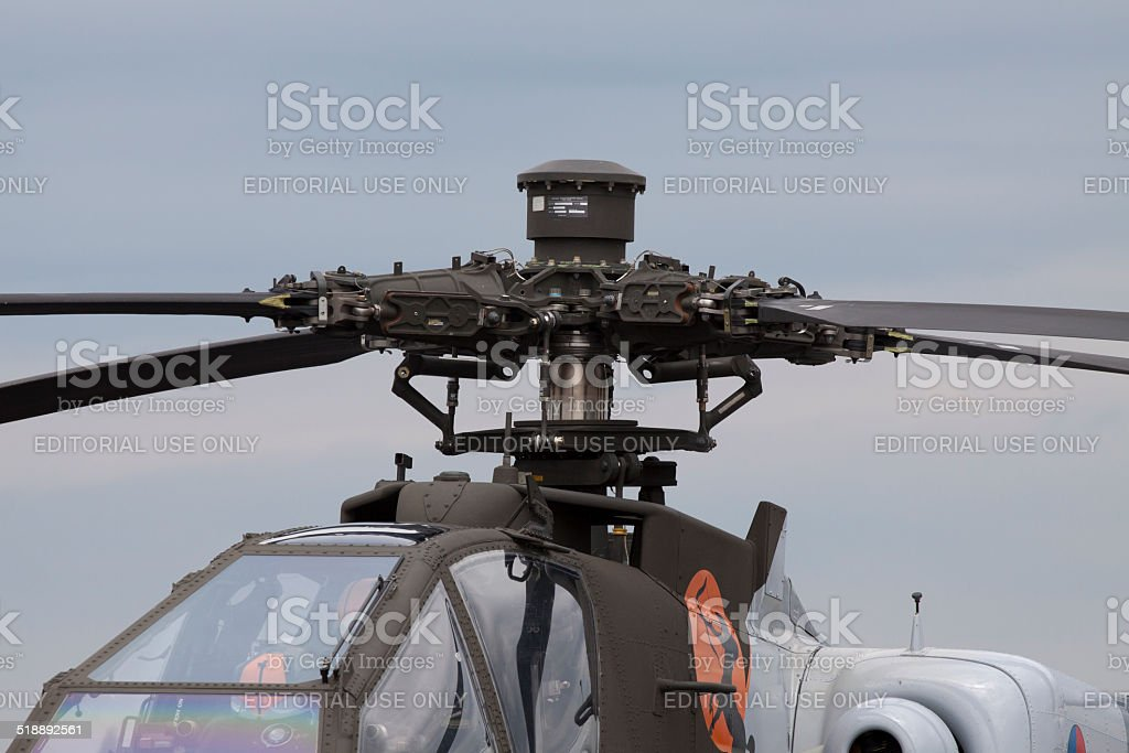 Made in the usa  Apache Helicopter stock photo