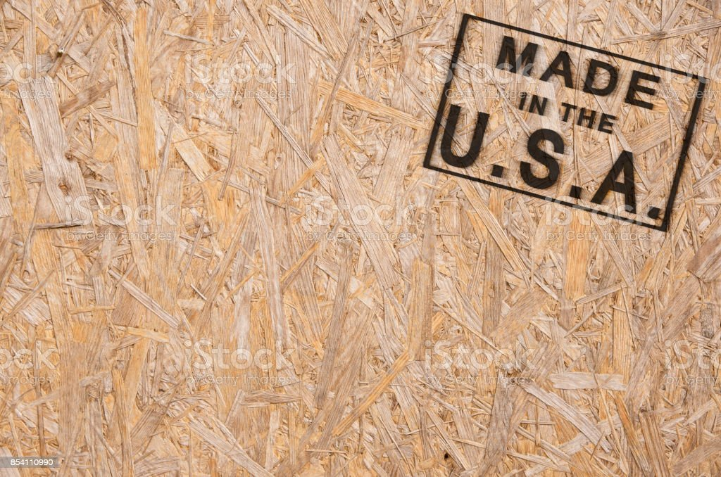 Made in the USA corner stock photo