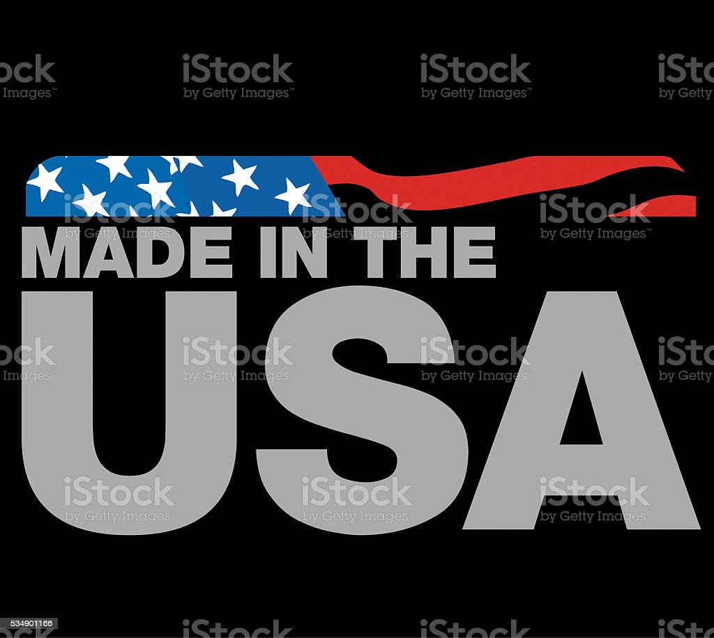 Made in the USA Logo stock photo