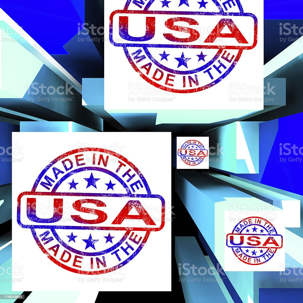 Made In The USA On Cubes Showing Patriotism stock photo