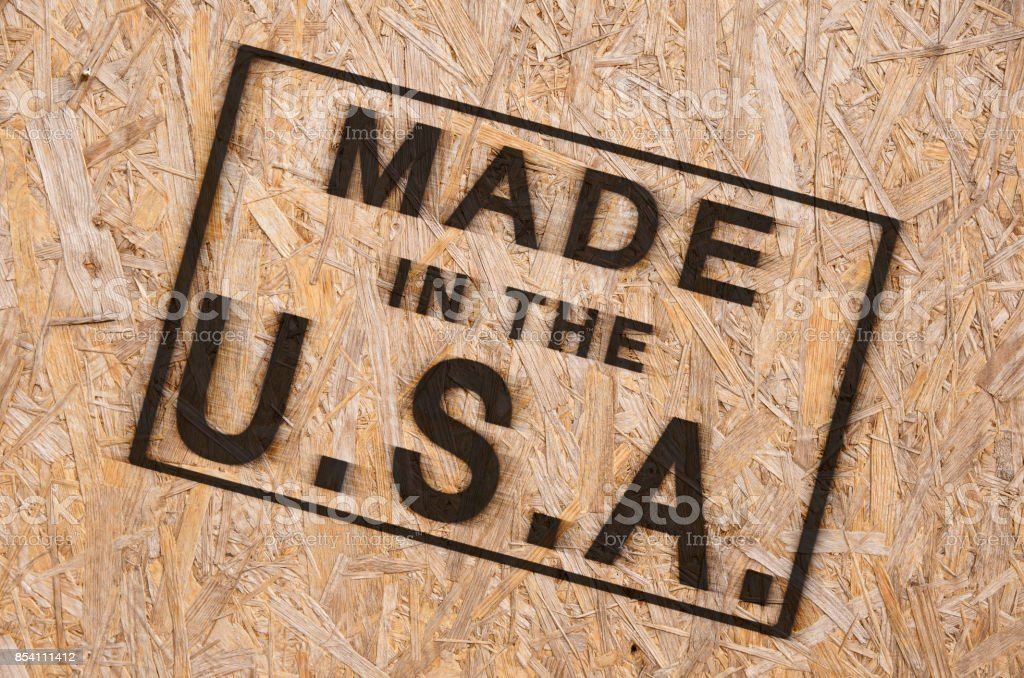 Made in the USA stock photo