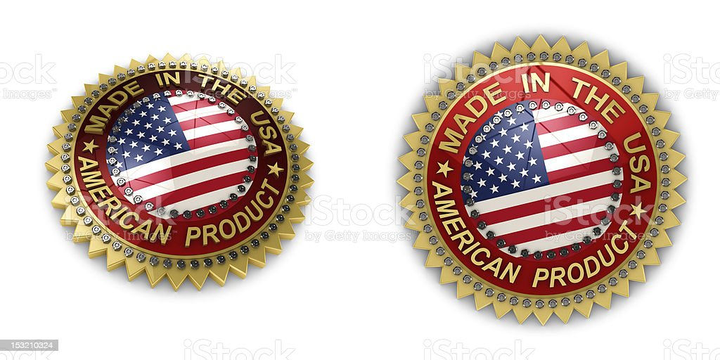 Made in the USA Seal royalty-free stock photo