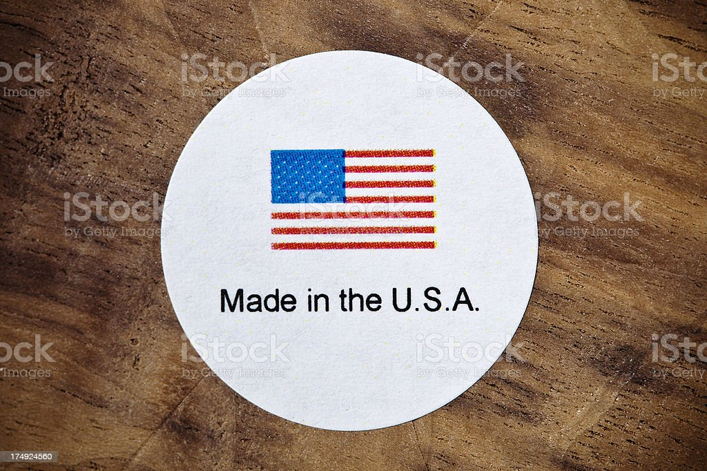 Made In The USA Sticker stock photo
