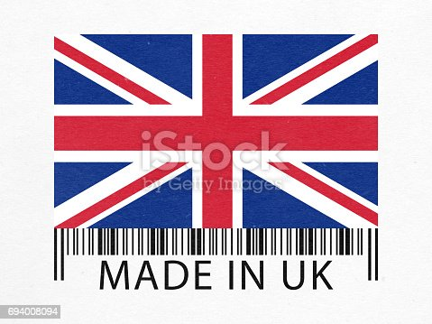Made in UK barcode label paper