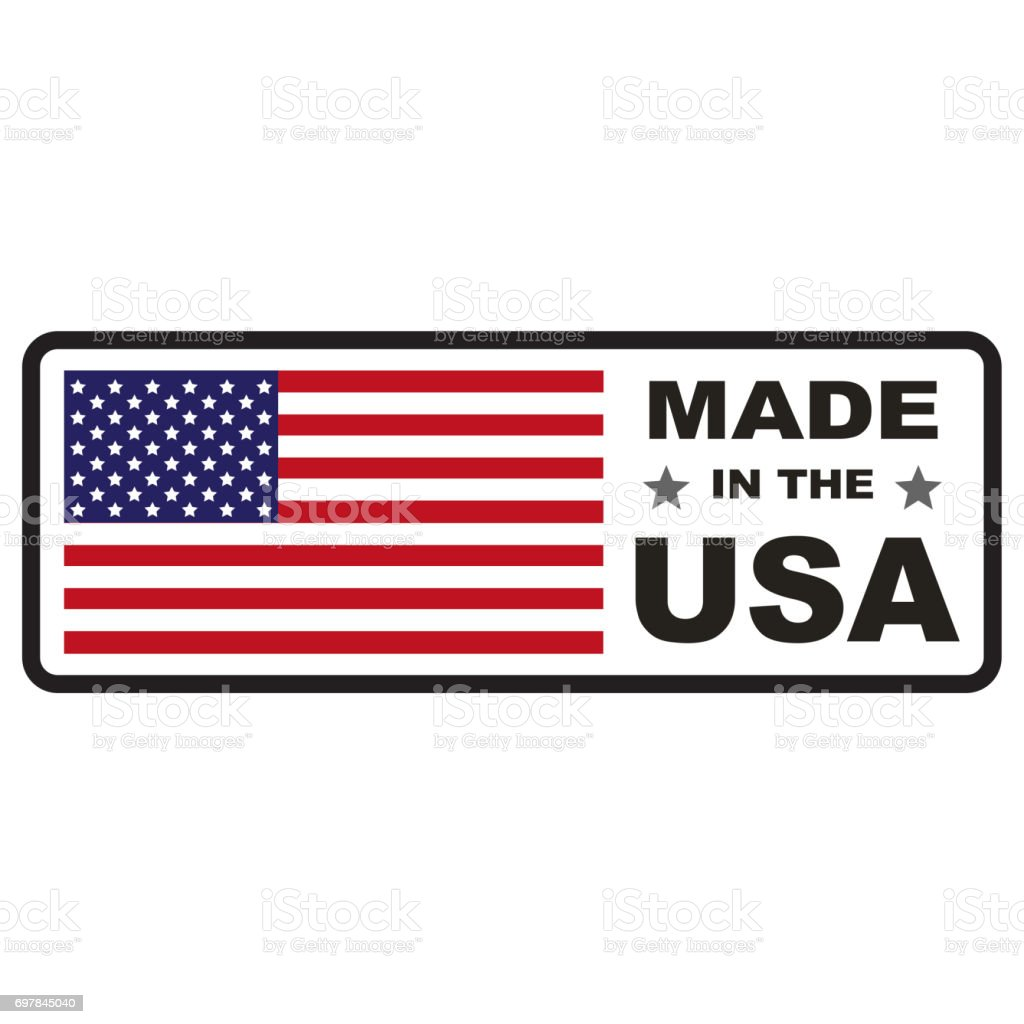 Made in usa flag stock photo