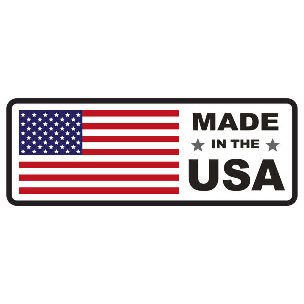 made in usa flag - manufacturing occupation stock photos and pictures
