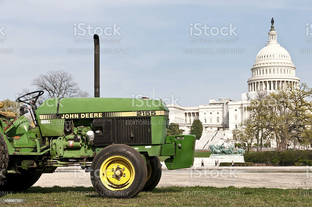 Made in USA - John Deere tractor and Capitol Building royalty-free stock photo