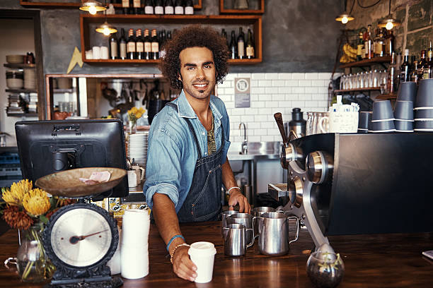 made just the way you like it - barista stock photos and pictures