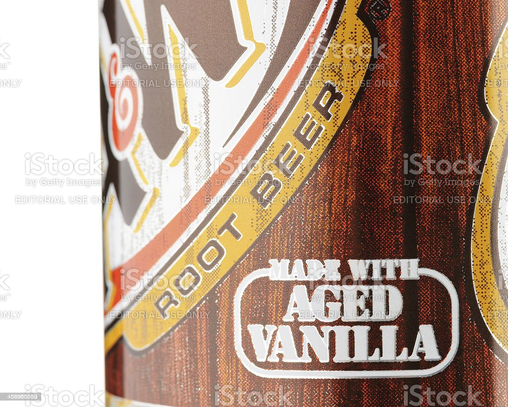 Made With Aged Vanilla A&W Root Beer royalty-free stock photo