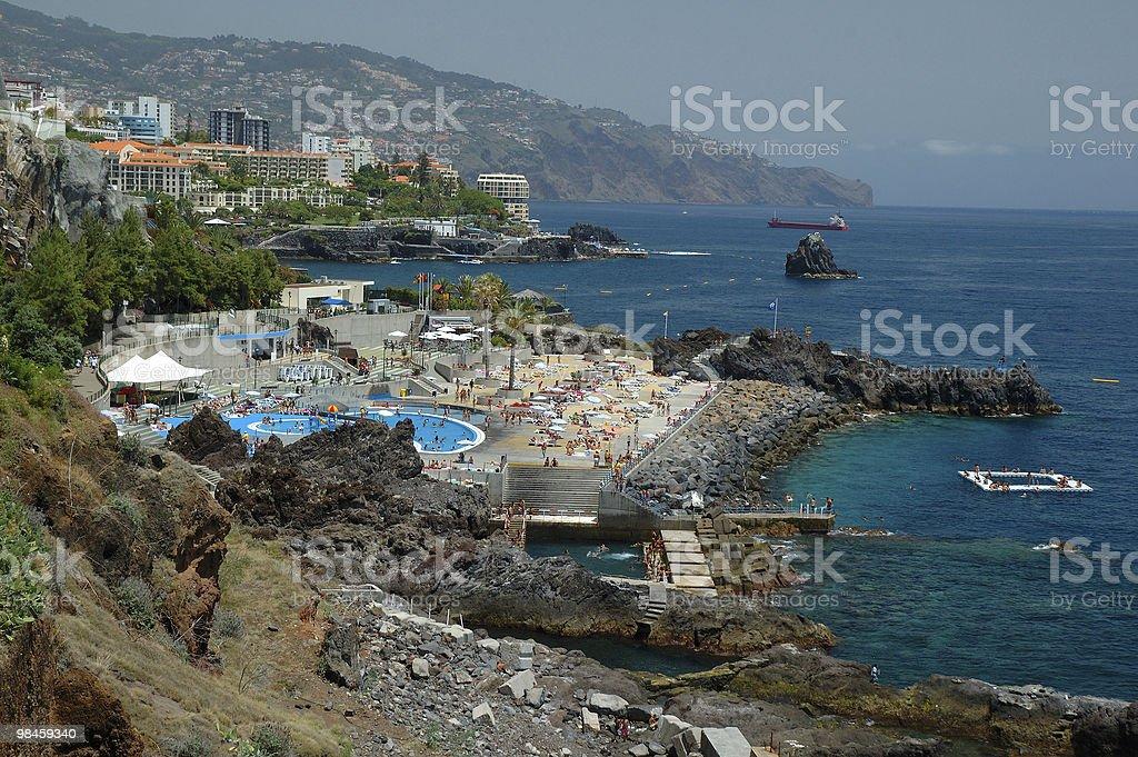 Madeira, Bathouse Lido, Central Funchal royalty-free stock photo