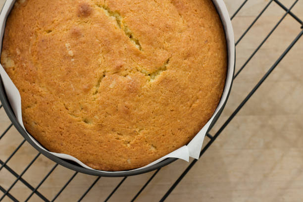 Madeira cake on a Cooling Rack