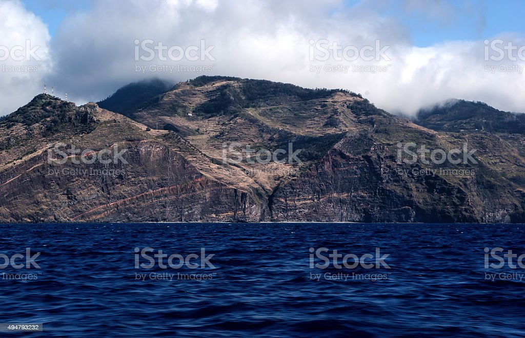 madeira coast stock photo