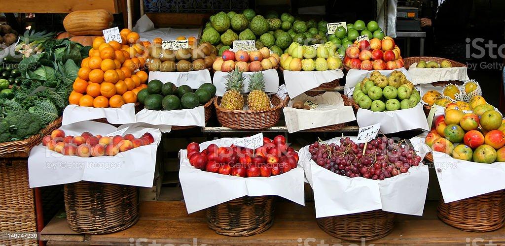 madeira island - farmers market royalty-free stock photo