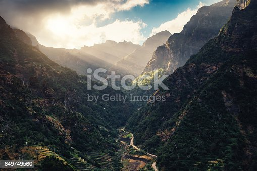 View on Serra de Agua Valley from above (Madeira Island, Portugal).