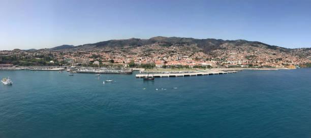 Madeira island wide angle stock photo