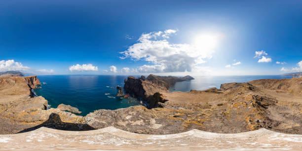 Madeira landscape (360 degree panorama) stock photo
