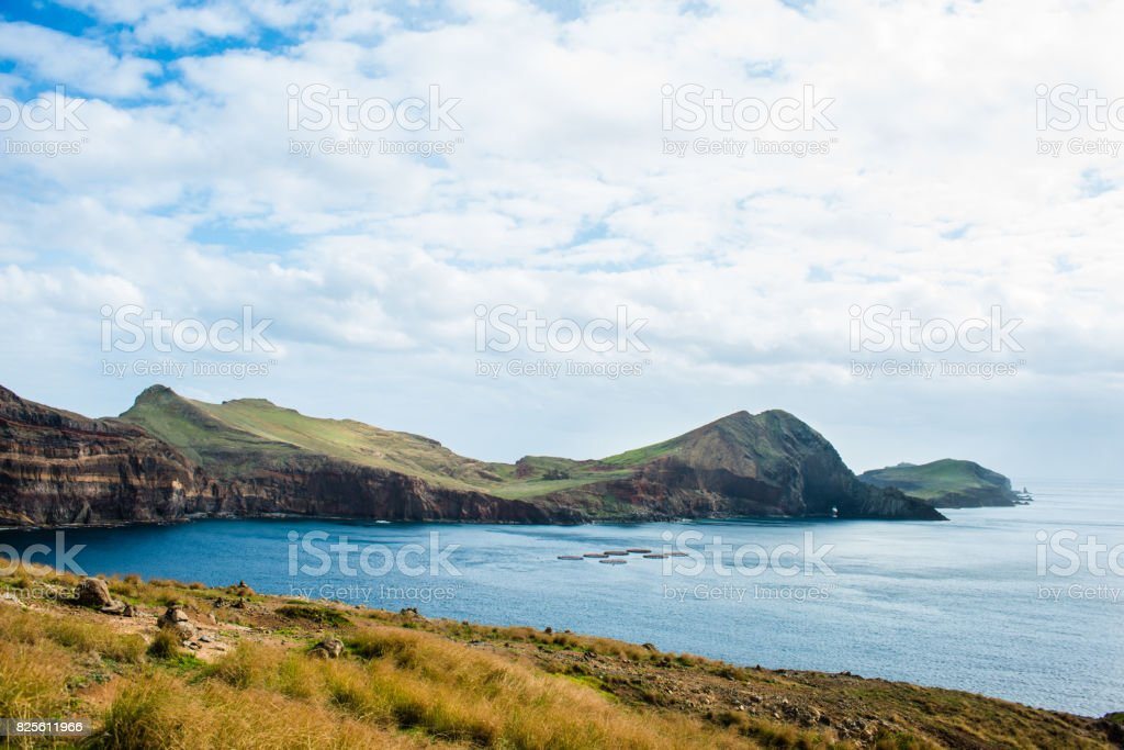 Madeira landscape without people stock photo