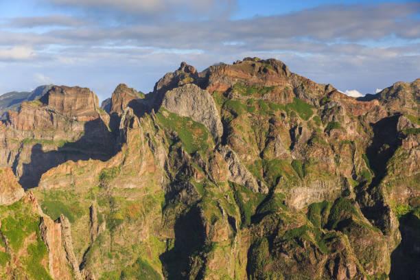 Madeira mountain landscape stock photo