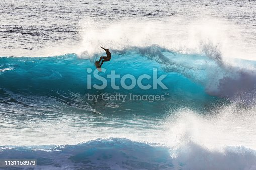 istock Madeira surfing silhouette 1131153979