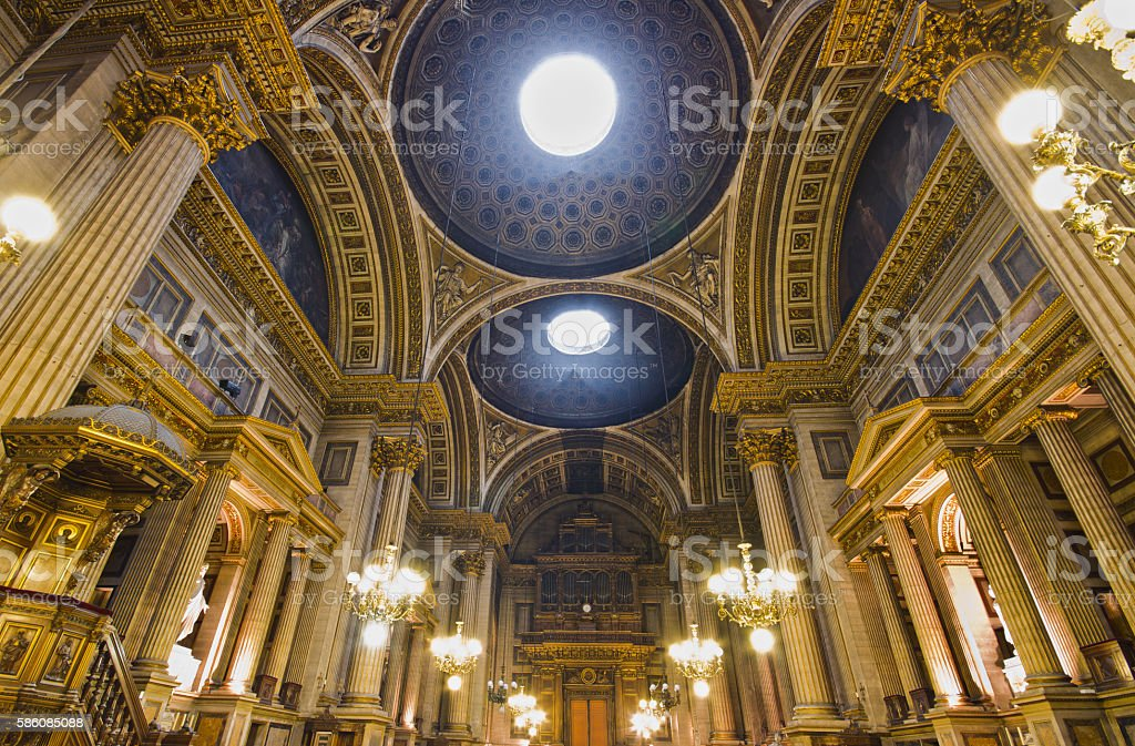Madeleine Cathedral interior stock photo