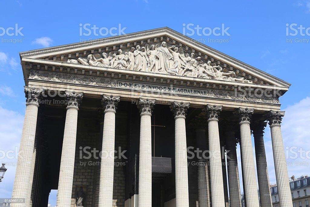 Madeleine Church, Paris, France stock photo