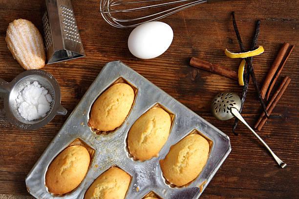 Madeleine cookies stock photo