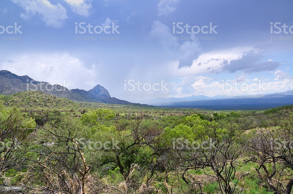 Madera Canyon View Of Virga From Proctor Trailhead royalty-free stock photo