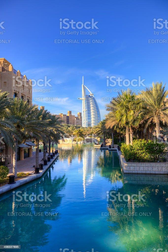 Madinat Jumeira and Burj Al Arab royalty-free stock photo