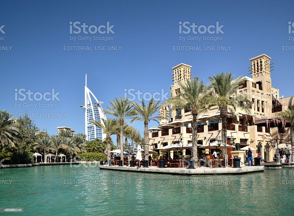 Madinat Jumeirah Arabian Resort in Dubai stock photo