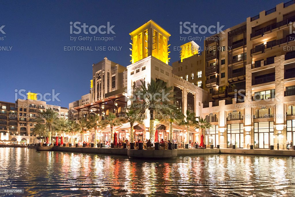 Madinat Jumeirah in Dubai stock photo