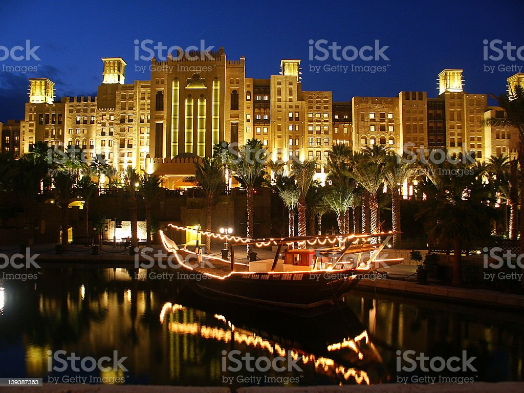 madinat jumeirah stock photo