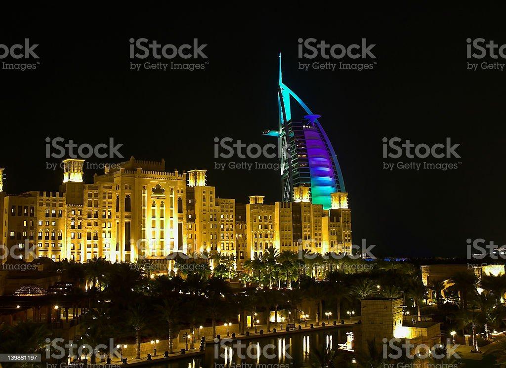 Madinat Jumeirah royalty-free stock photo