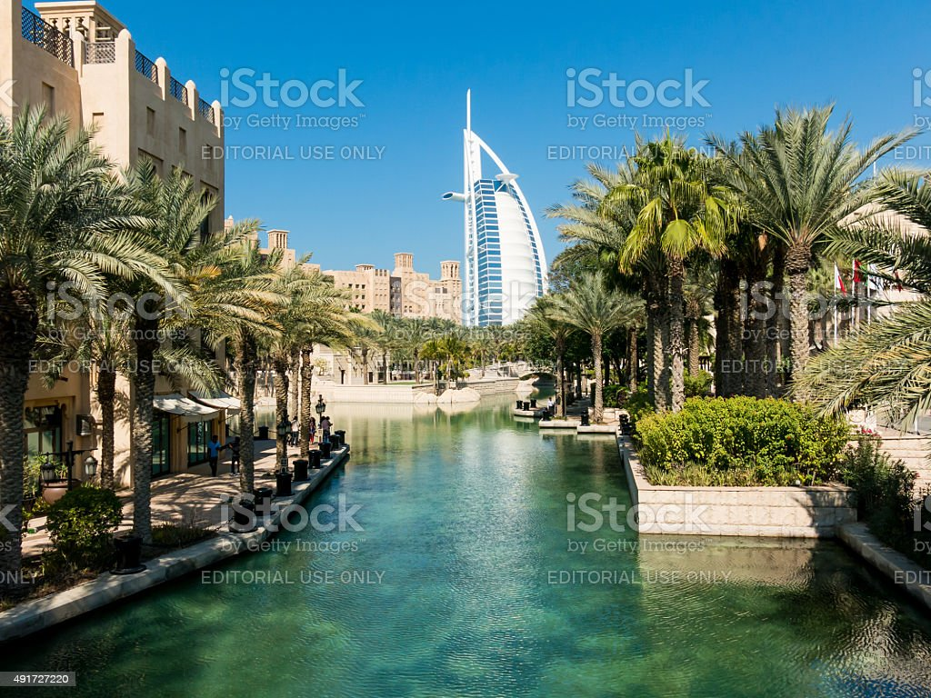 Madinat Jumeirah Resort in Dubai stock photo