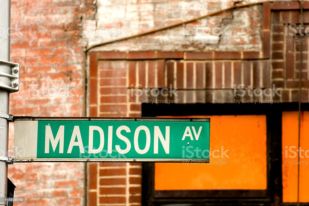 Madison Avenue royalty-free stock photo