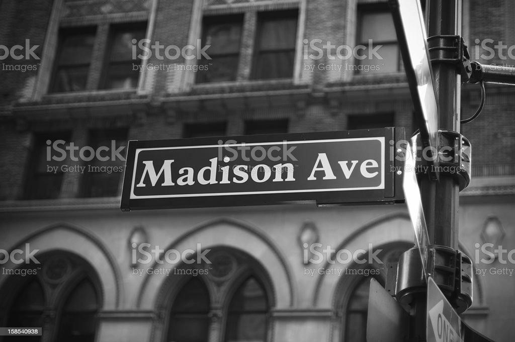 Madison Avenue royalty-free stock photo