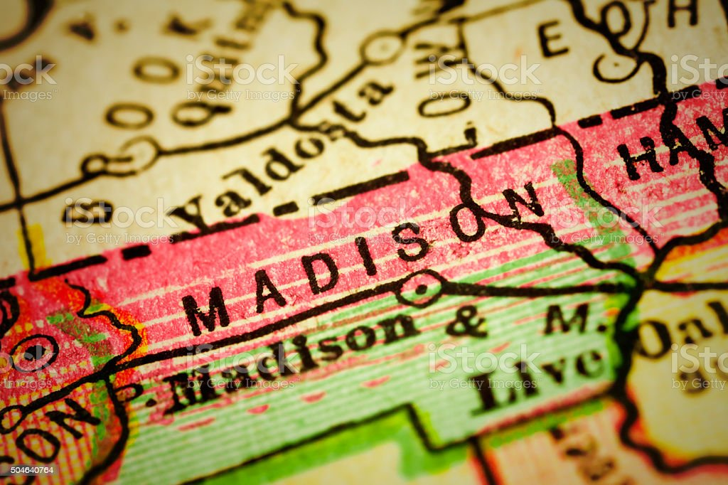Madison Florida Map.Madison Florida County Maps Stock Photo More Pictures Of