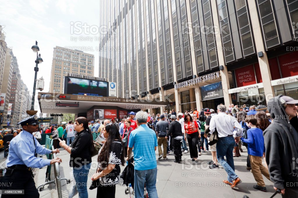 Madison Square Garden 7th Avenue Manhattan stock photo
