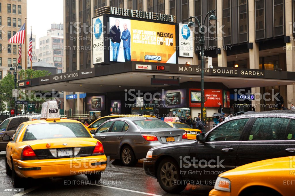 Madison Square Garden and Penn Station New York City stock photo