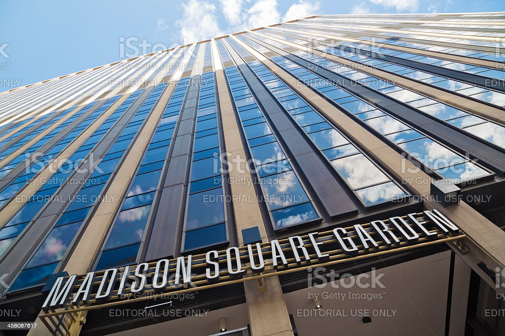 Madison Square Garden building stock photo