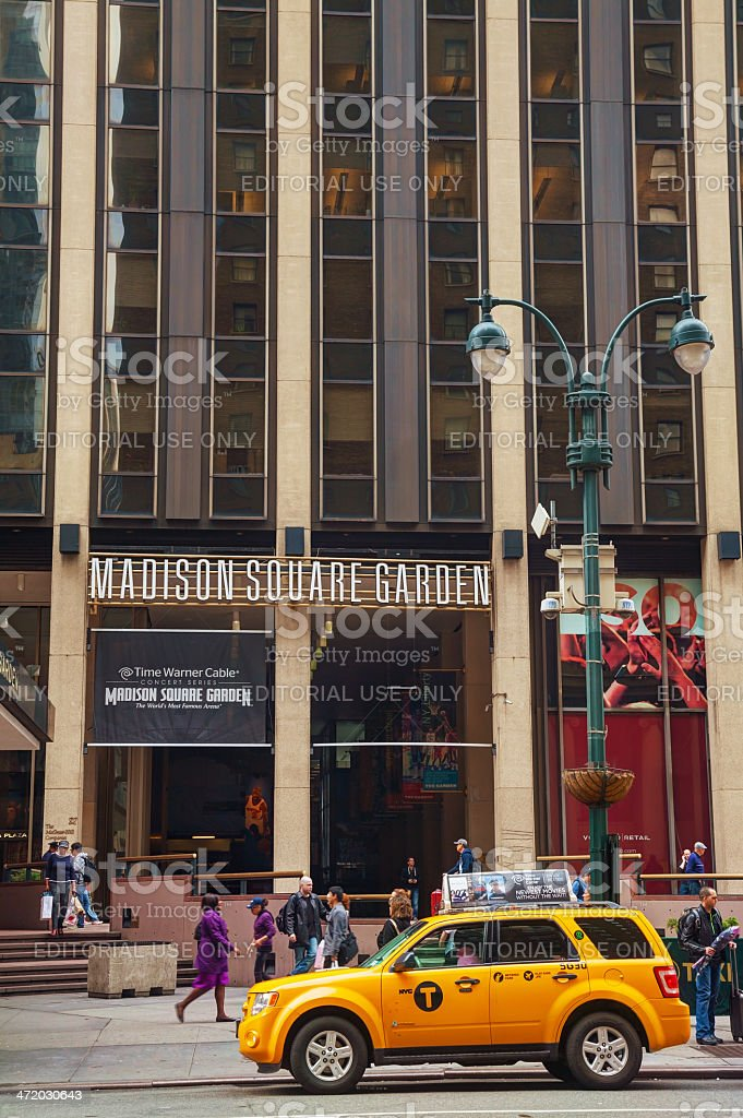 Madison Square Garden in New York City stock photo