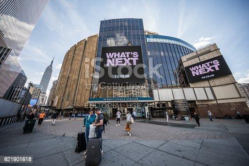 New York City, United States - September 26, 2016: Madison Square Garden and Pennsylvania Station, Manhattan, New York City, United States.