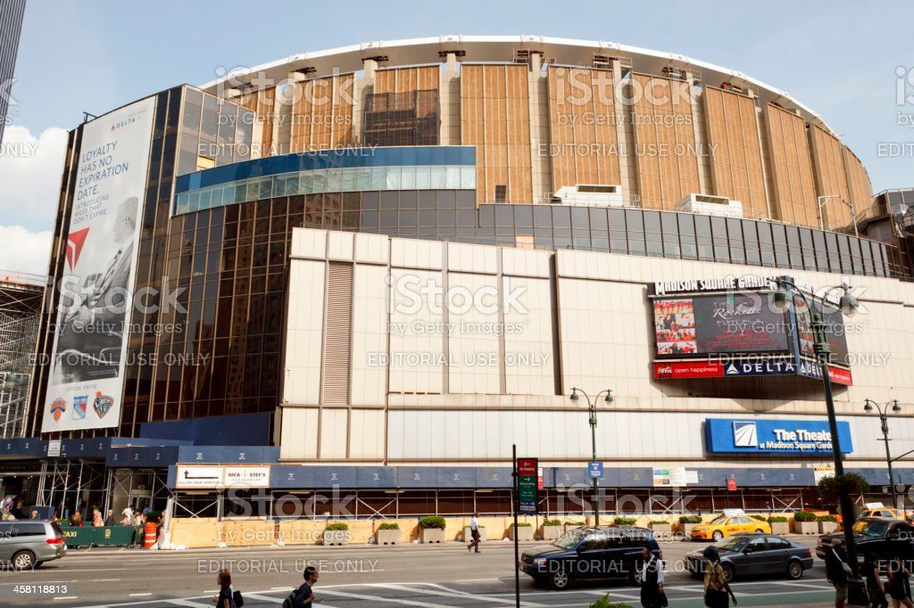 Madison Square Garden New York City stock photo