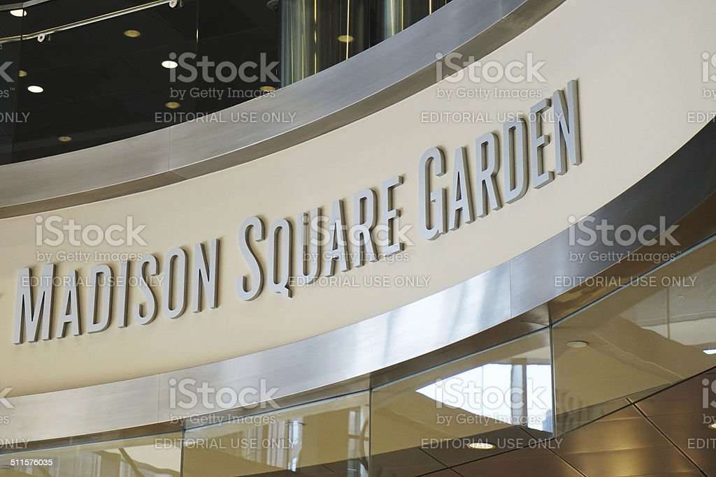 Madison Square Garden sign stock photo