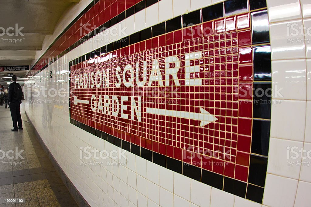 Madison Square Garden Subway stock photo