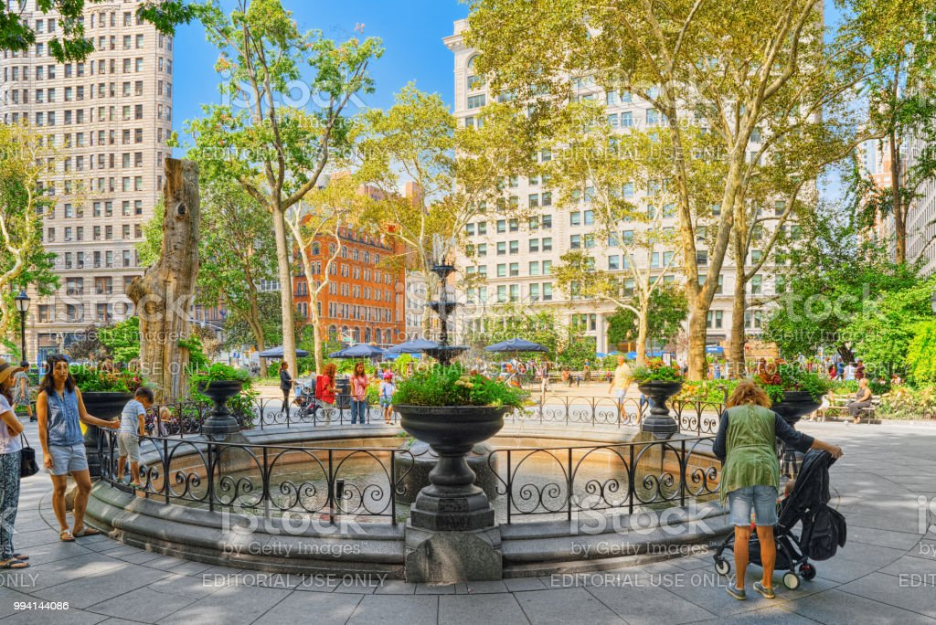 Madison Square Park on 5th Avenue. Urban views of New York. USA. stock photo
