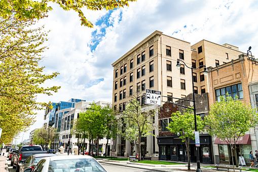 Madison, WI, USA - 05.01.2021 - Downtown Madison, WI