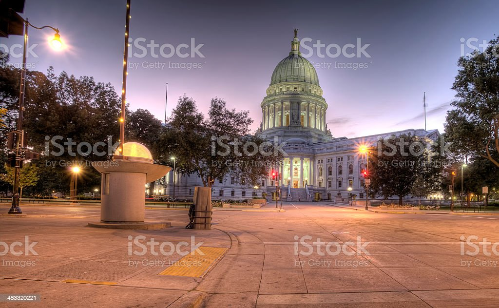 Madison, Wisconsin HDR royalty-free stock photo