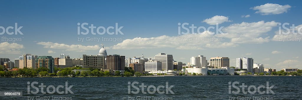 Madison Wisconsin in summer royalty-free stock photo